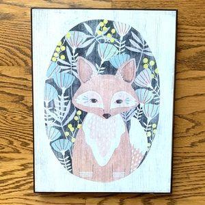 Fox Painting/Print River Luna Wood Box Art Target